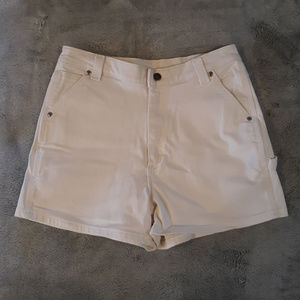 Vintage Riveted By Lee White Carpenter Shorts